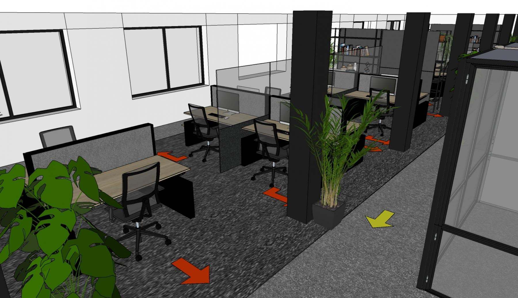 1,5 meter kantoor realiseren