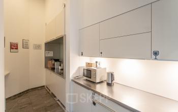 Communal kitchen in the office space in Vienna Innere Stadt