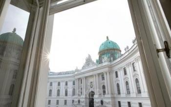 Beeindruckende Ansicht Altbau Gebäude Wien