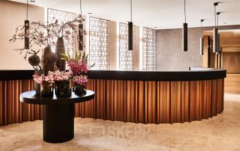 Stilvolle Rezeption im Business Center in den Tuchlauben in Wien