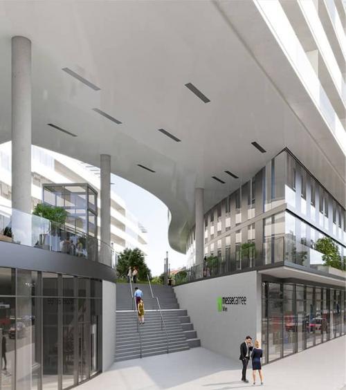 Exklusiven Arbeitsplatz mieten im hochmodernen Bürogebäude an der Ausstellungsstraße in Wien 1020