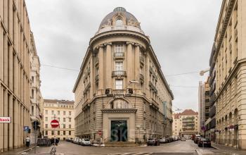 Historische Außenansicht vom Business Center in 1030 Wien Landstraße am Schwarzenbergplatz