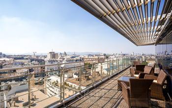 Bürogbäude in 1040 Wien mit großer Dachterasse und schöner Aussicht