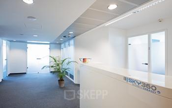 Schöne Rezeption im Business Center in Wien