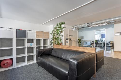 Relax area of the coworking space in central Vienna