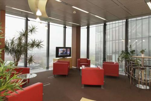 Gemütliche Sitzecke in der Büroimmobilie in 1100 Wien Favoriten