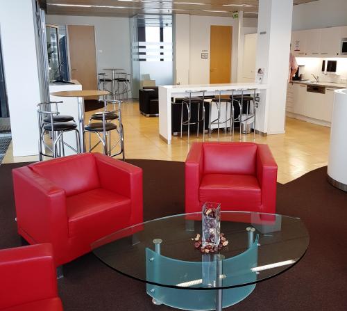 Gemütliche Business Lounge in der Wienerbergstraße in Wien