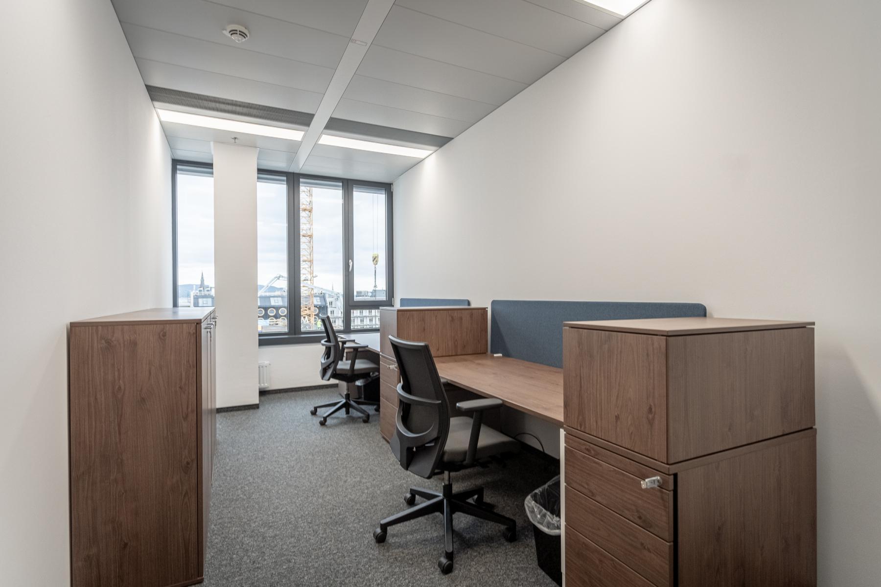 Schreibtische in Teambüros zur Miete Bürofläche Wien Wieden