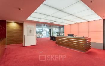 Rezeption des Bürogebäudes Wien Europaplatz