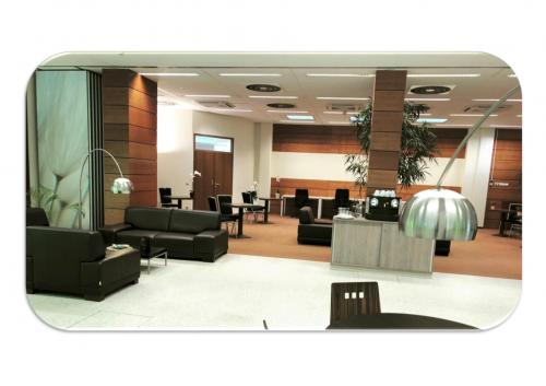 Gemütlicher Loungebereich im Business Center in Wien
