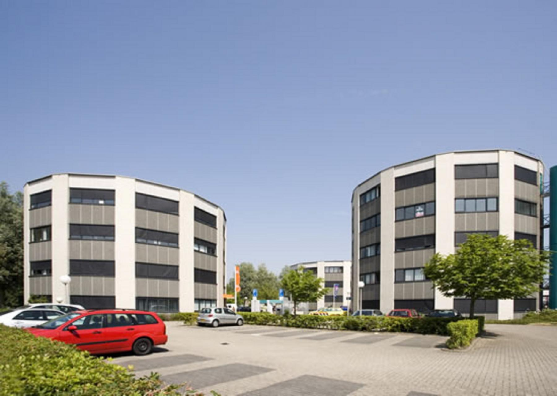 Two round office buildings in Alkmaar