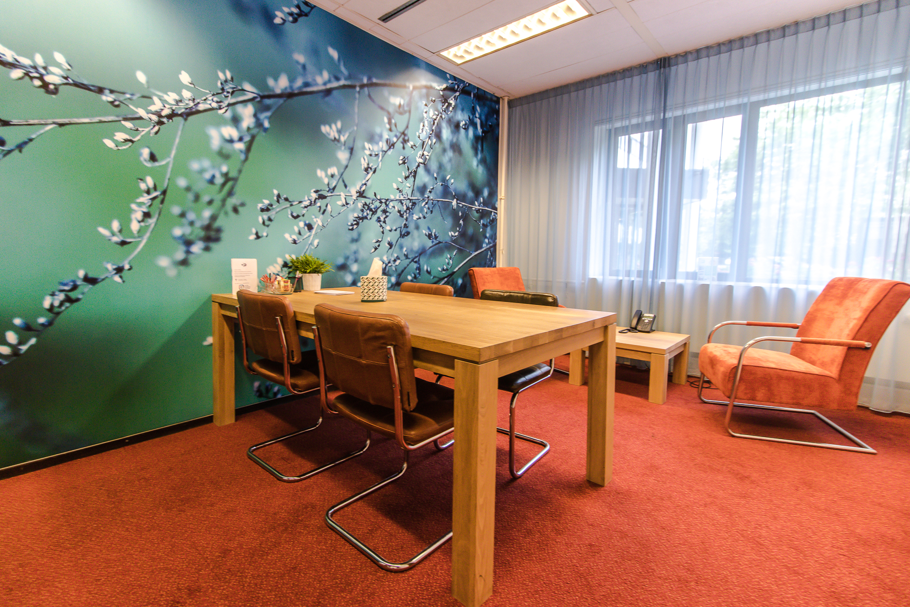 Multiple conference rooms throughout the building