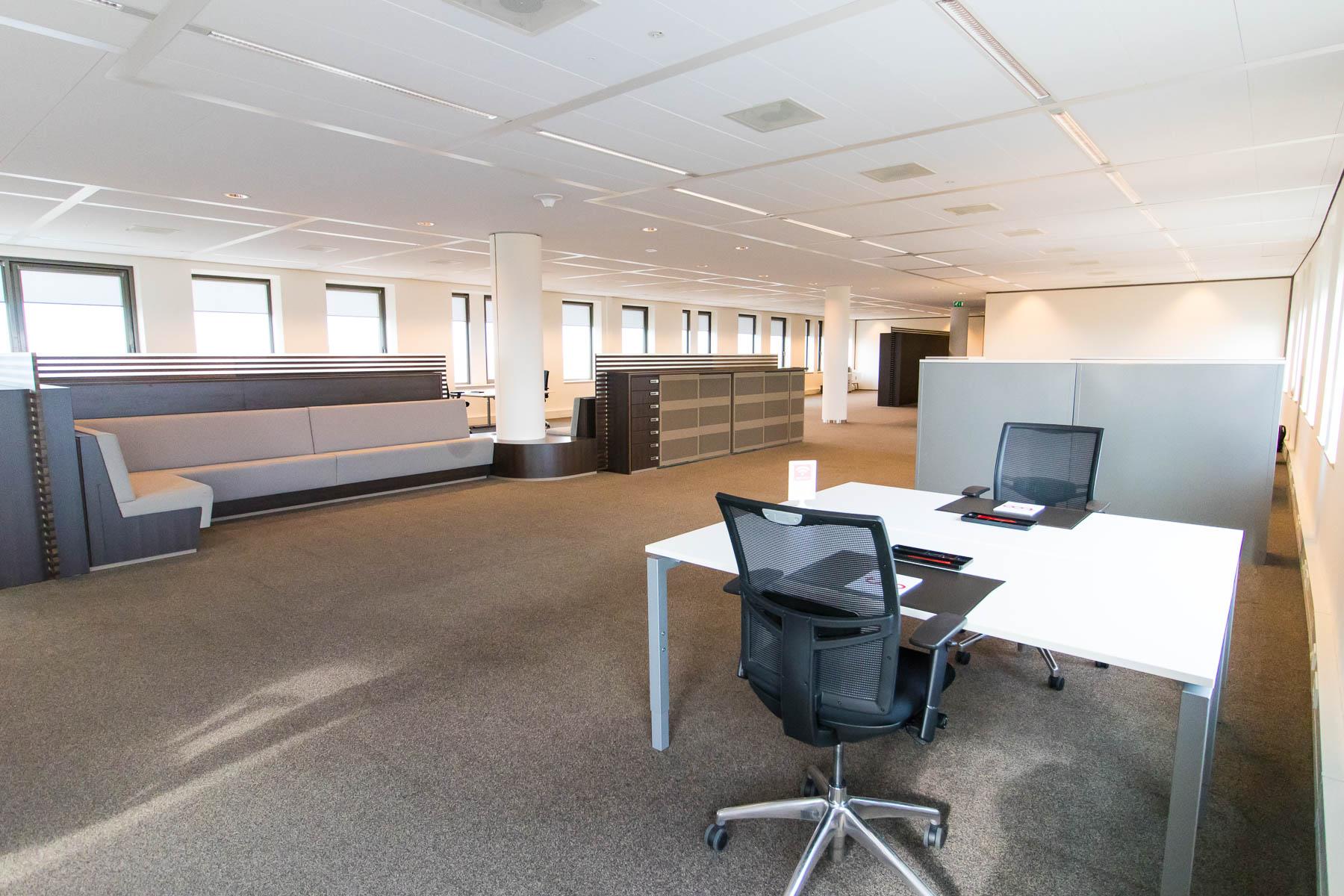 Business lounge with flex desks