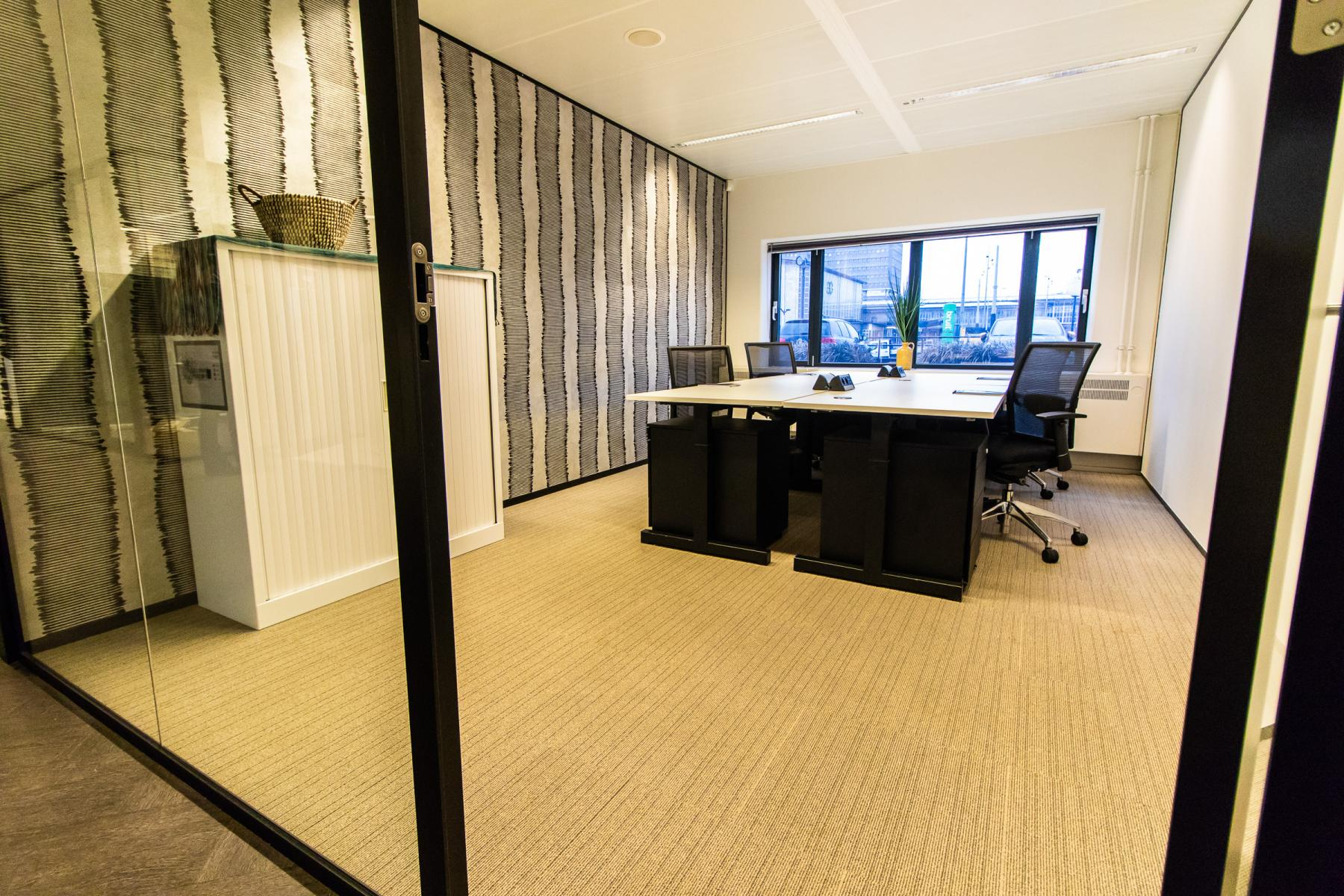 Well lit office space