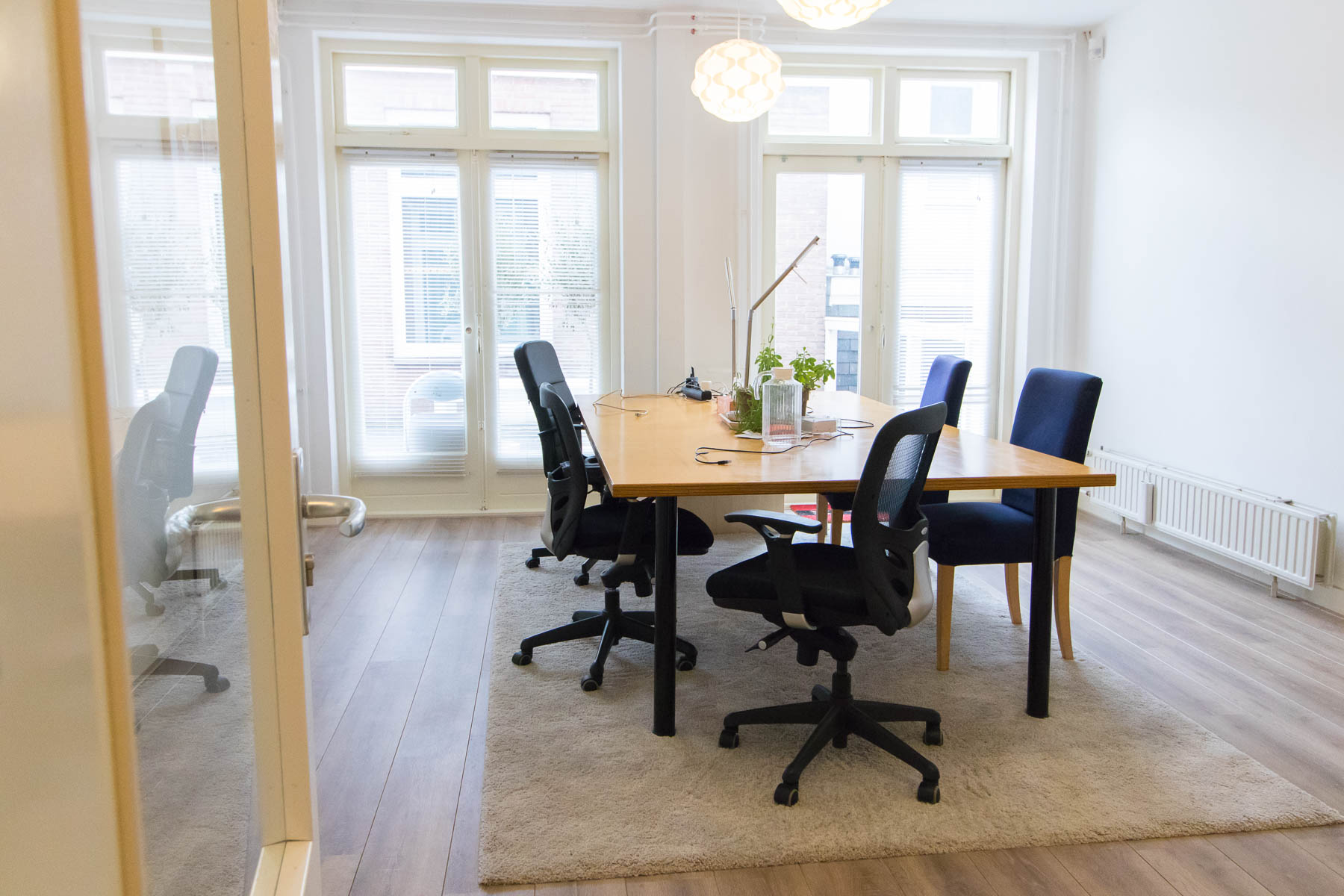 Natural light fall in most office spaces