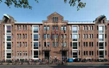 Frontside of the office building at the van Diemenstraat