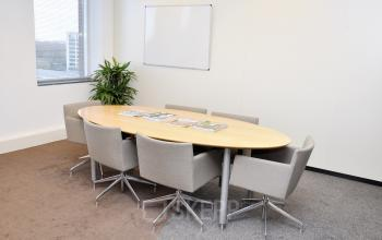small meeting room for six persons