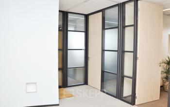hallway nice room with black doorframes
