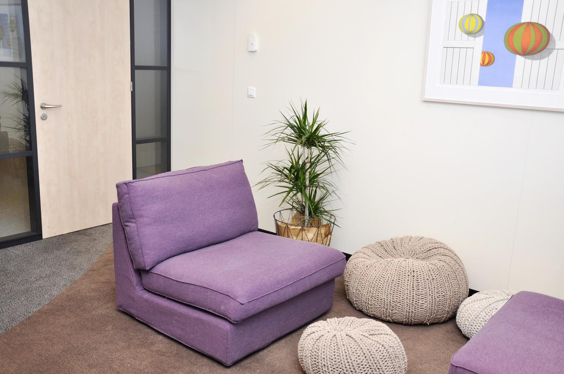nice place to chill out and relax purple couch