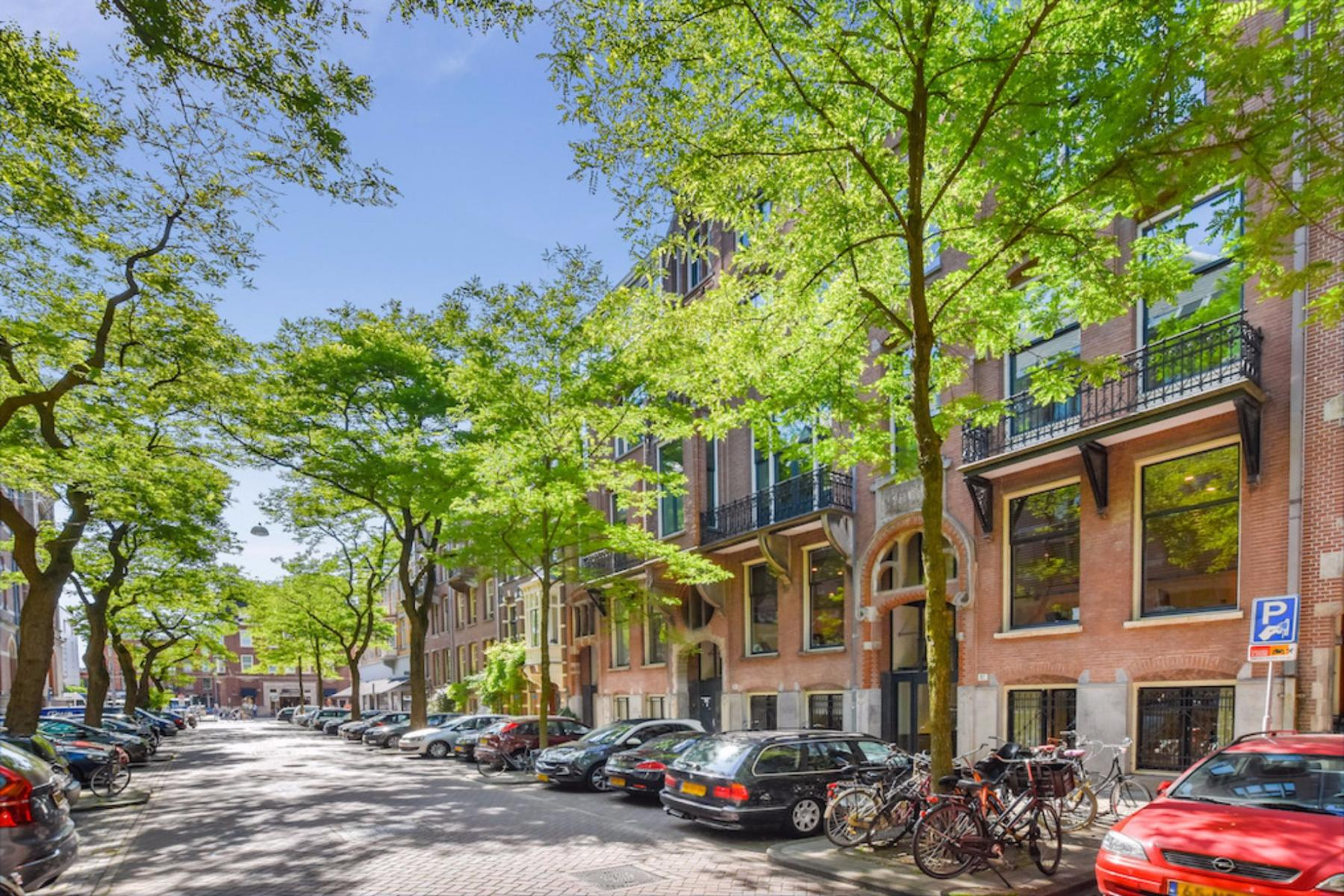 Outside view of office building Amsterdam