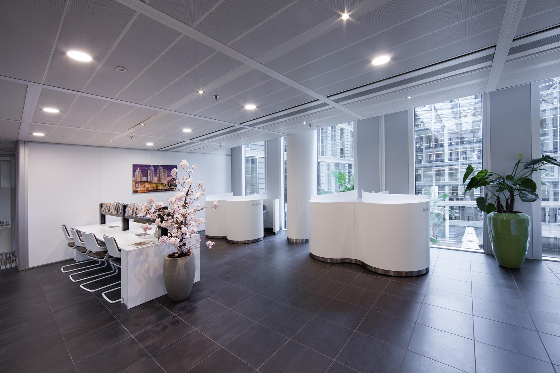 gemeenschappelijke algemene ruimte kantoorgebouw amsterdam zuidas lunchruimte ramen