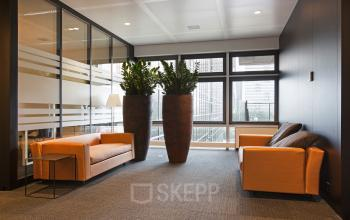 verdieping kantoor amsterdam zuid banken planten lounge gemeenschappelijke ruimte