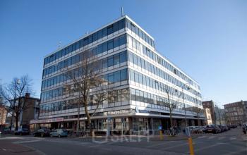 kantoorgebouw Amsterdam Donker Curtiusstraat met keuken