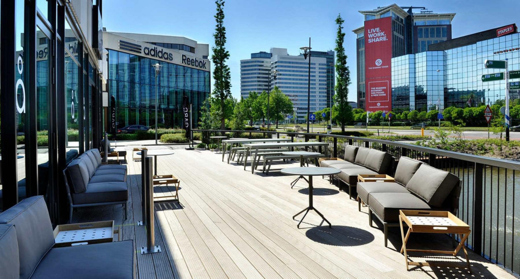 terras kantoor lounge amsterdam vlakbij arena