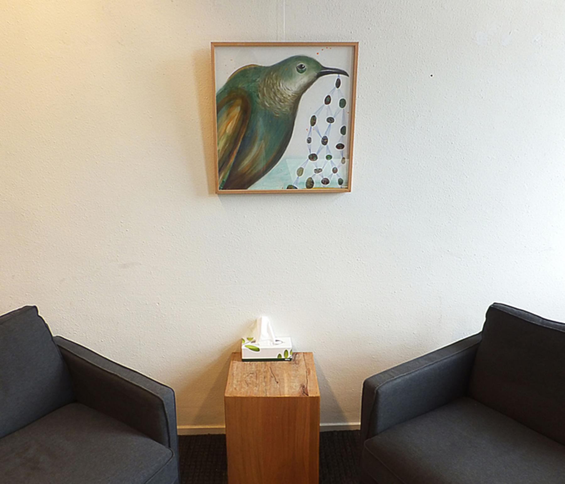 gemeubileerde zithoek in kantoorgebouw Amsterdam nabij het Westerpark