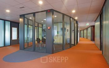 office space glass wall amsterdam