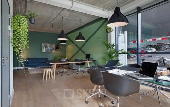 office space for rent amsterdam green wall