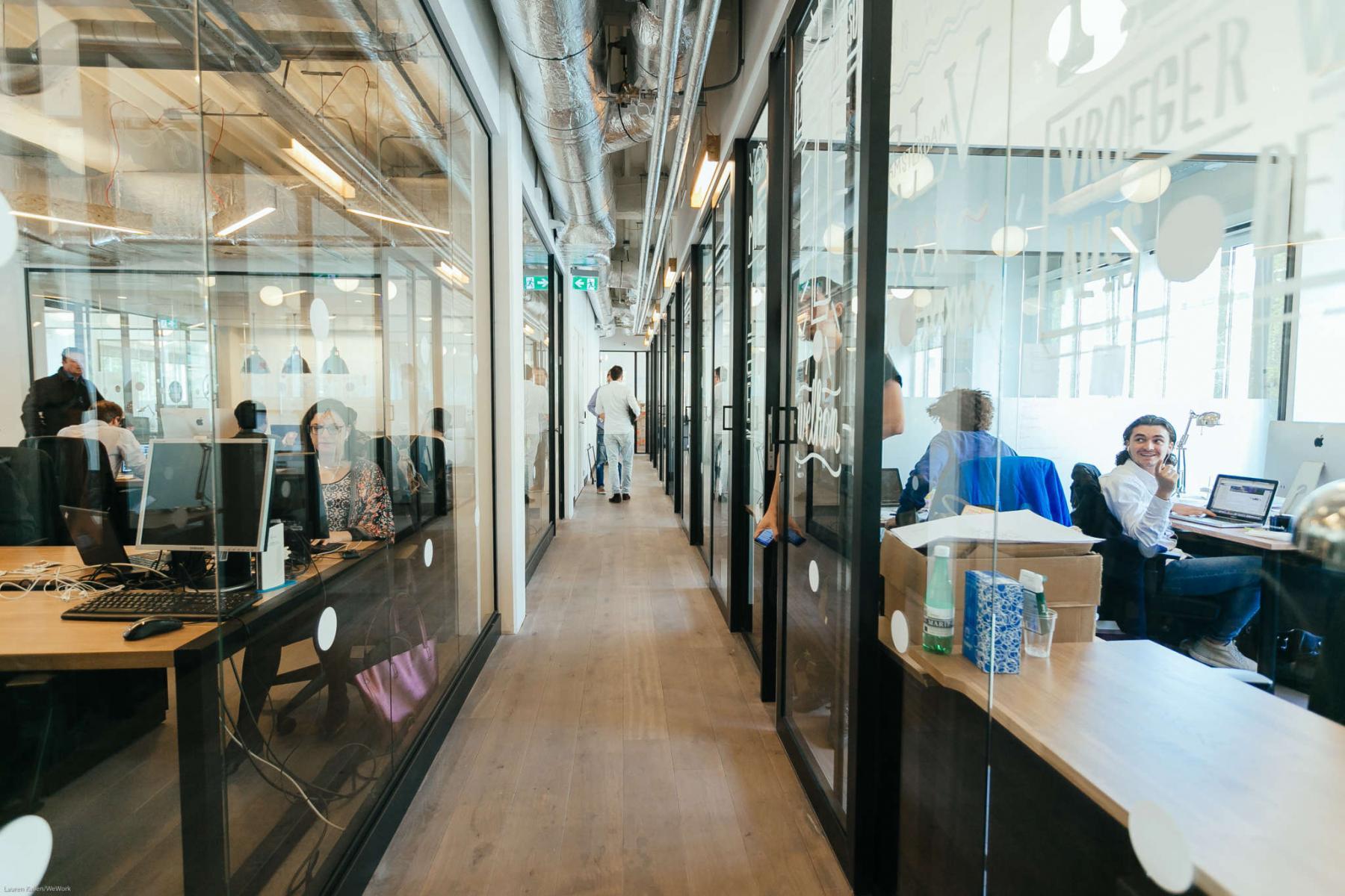 binnenzijde kantoor Amsterdam Weteringschans goede locatie