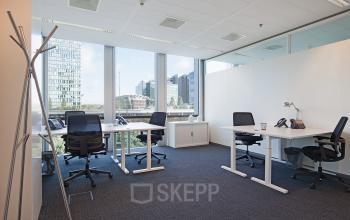 kantoorruimte kantoorkamer uitzicht ramen Amsterdam