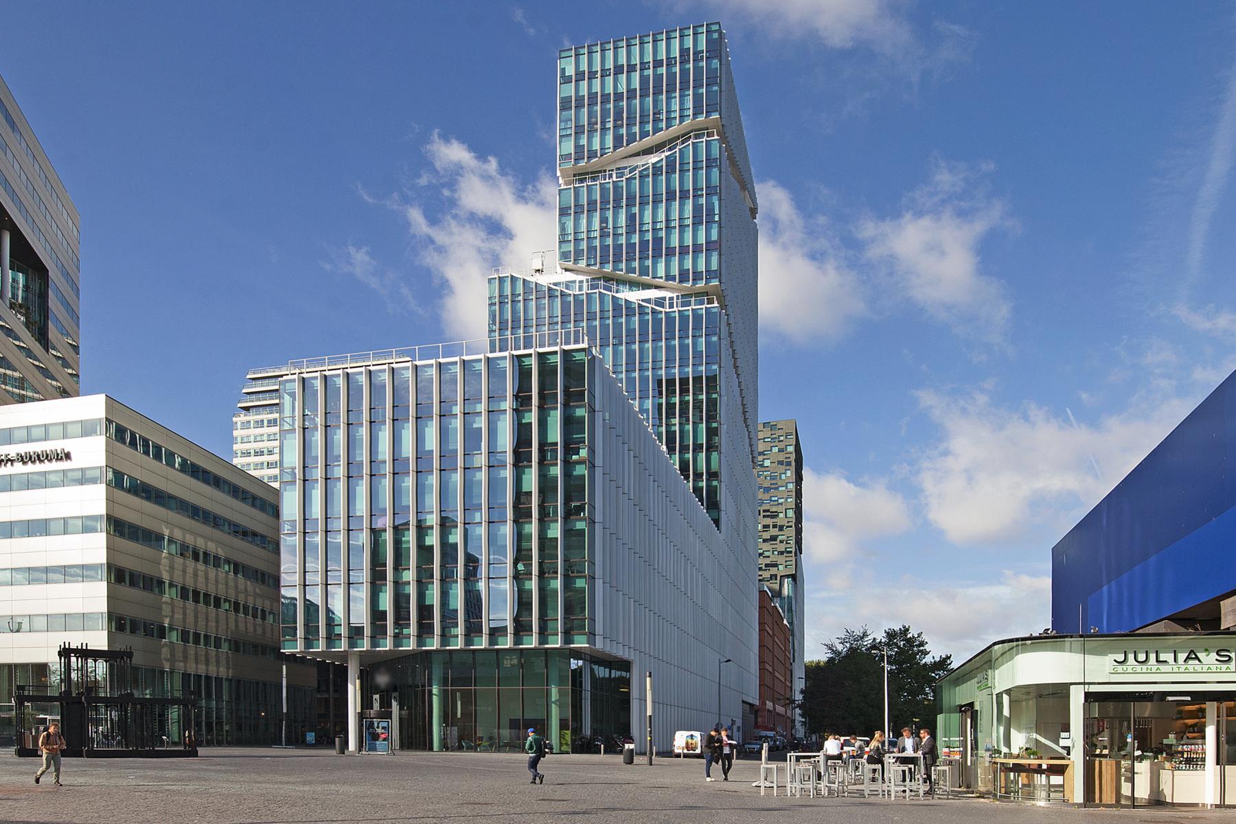 kantoorpand kantoorgebouw gevel Amsterdam Zuidas