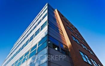 kantoorpand Amsterdam Entrada buitenkant ramen