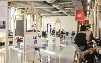 industrial creative wood office room inspiring
