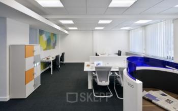 overzicht van de kantoorvloer
