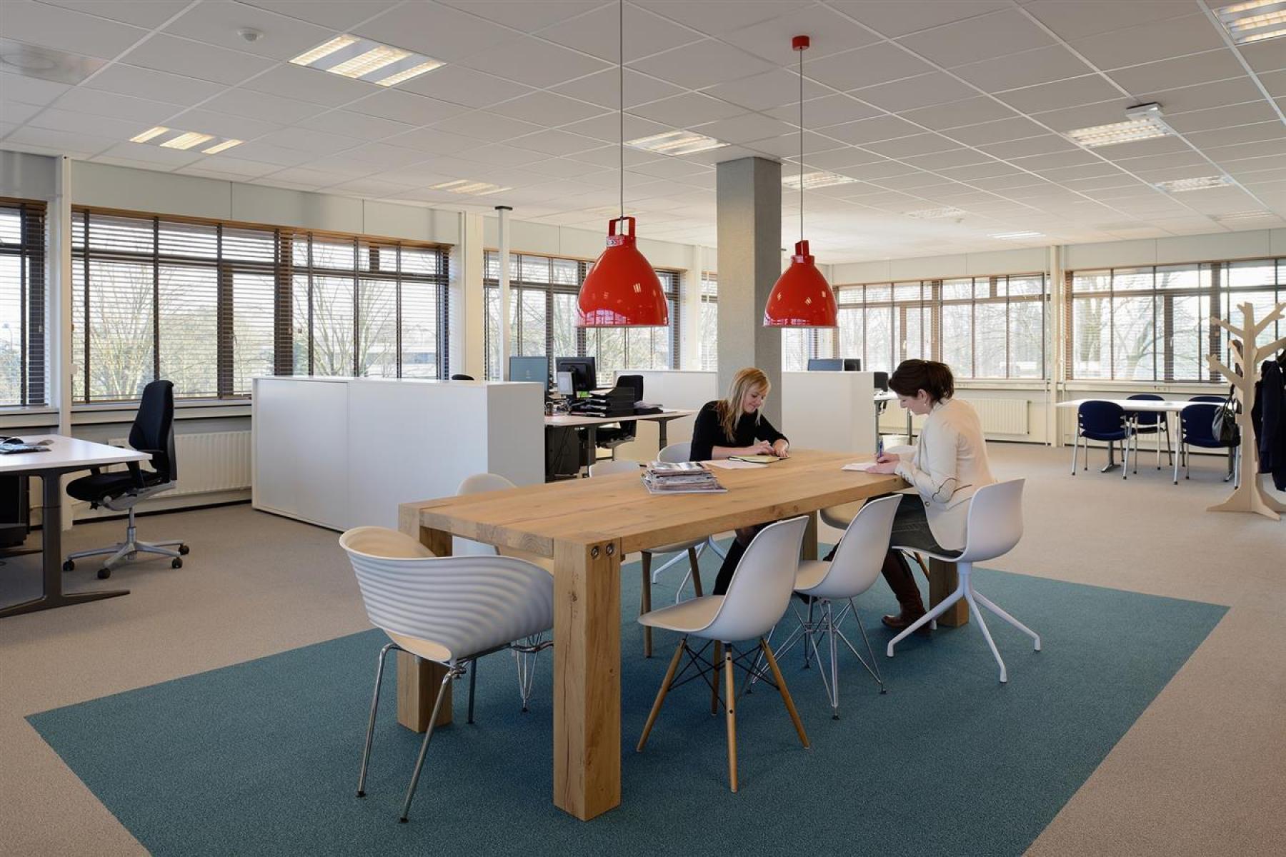 kantoorkamer gemeubileerd te huur apeldoorn kantoorpand vloerbedekking parket ramen uitzicht
