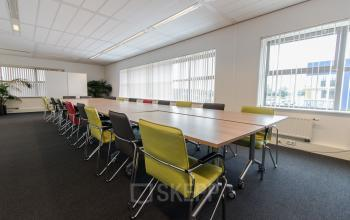Multiple conference rooms available for different group sizes