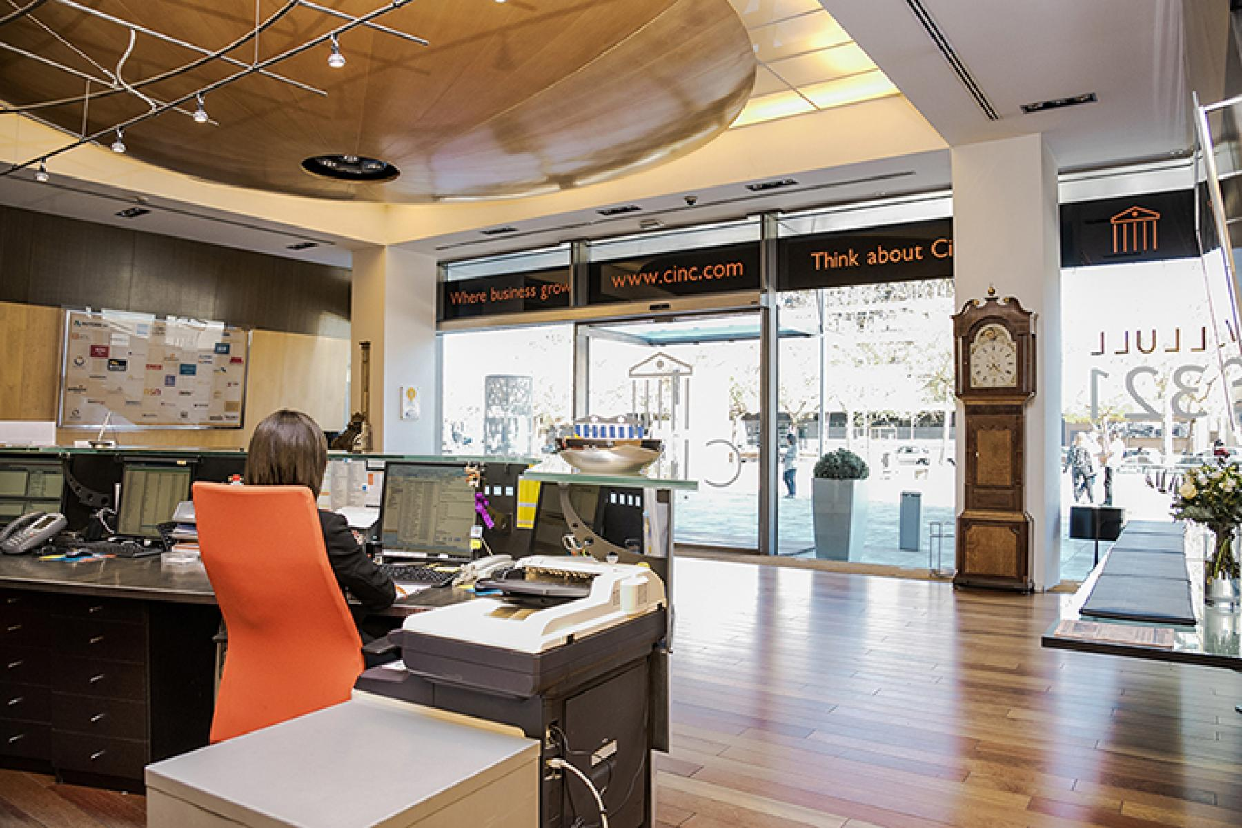 Reception area in Carrer de Llull