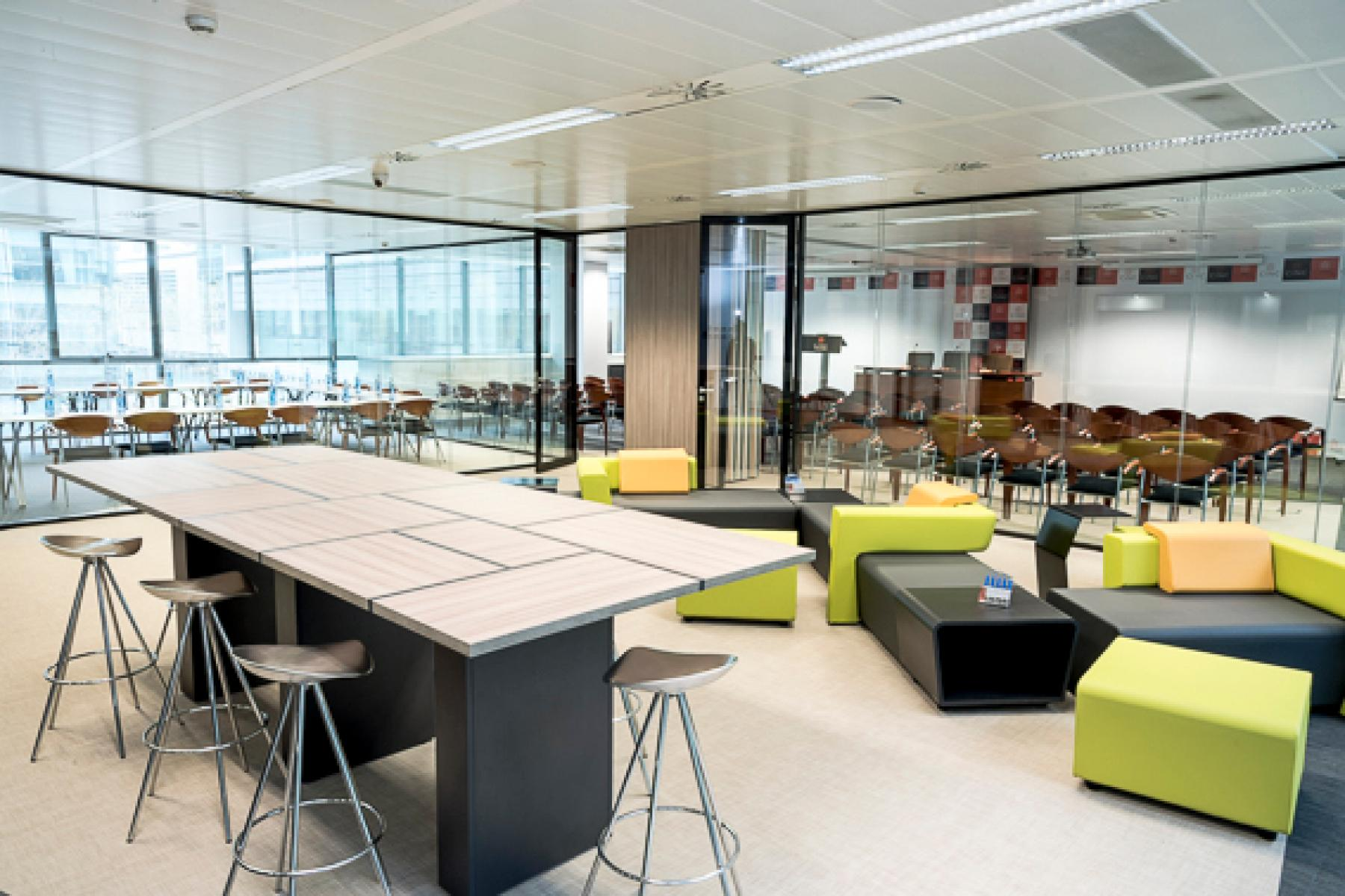 Resting area at offices in Carrer Llull