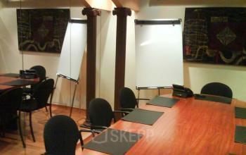 A view of the meeting room in Carrer de la Diputació
