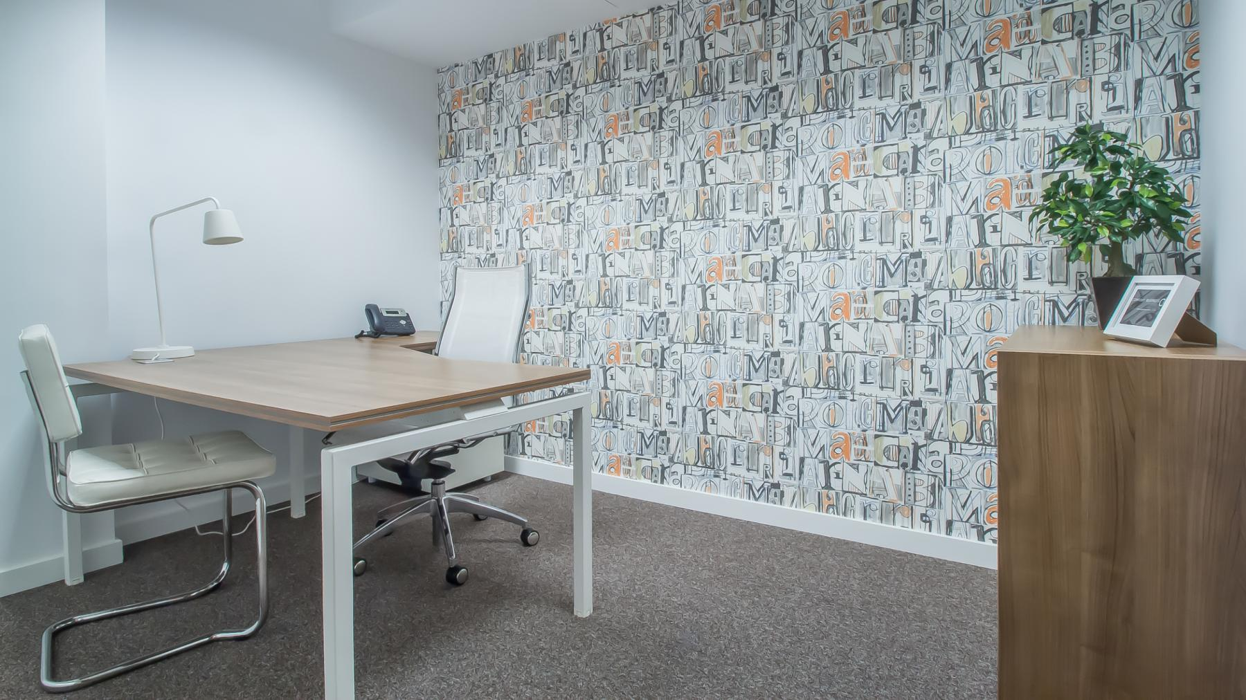 Office decorated and ready to use at Carrer d'Aribau 161