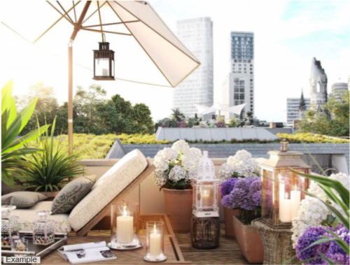 Inspiration for rooftop terrace of the office space for rent in Berlin Charlottenburg