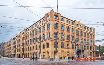 Historisches Bürogebäude an der Edisonstraße in Berlin
