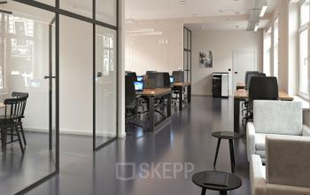 Cleaner und moderner Look der Bürofläche zur Miete an der Nostitzstraße in Kreuzberg