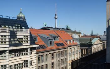 Fantastische Aussicht vom Bürogebäude