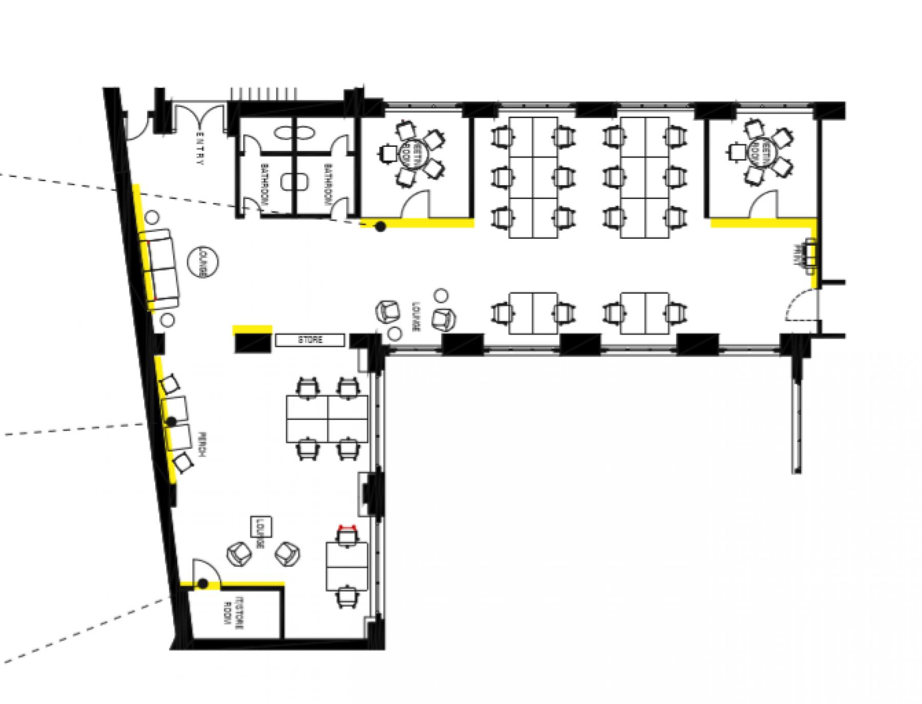 Beispiel Grundriss Büros zur Miete Alte Jakobstraße Berlin