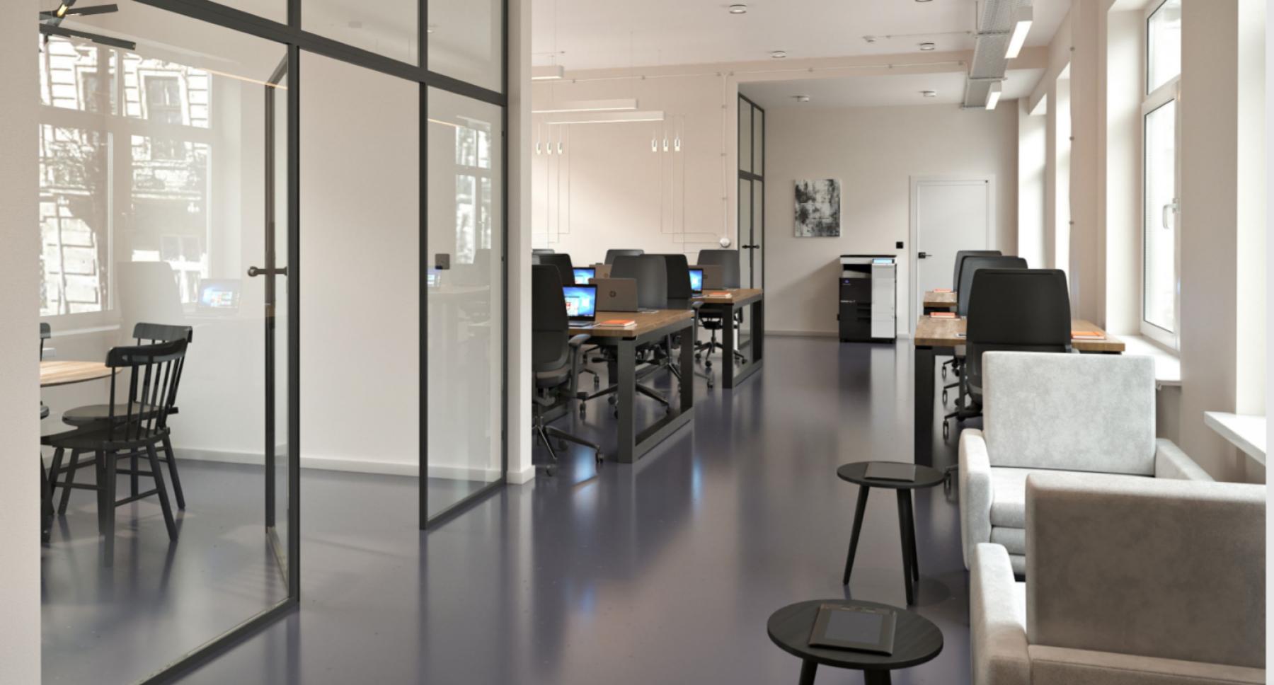 Durchdachtes Design im Office Space zur Miete in Berlin Mitte