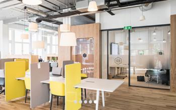 Hochmoderne Coworking Area im Business Center Berlin Mitte